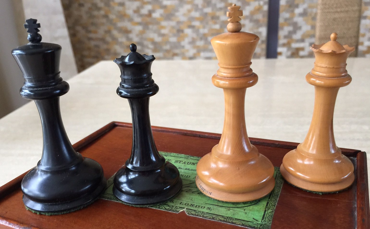 Jaques anderssen staunton antique chess set - Collectible chess sets ...