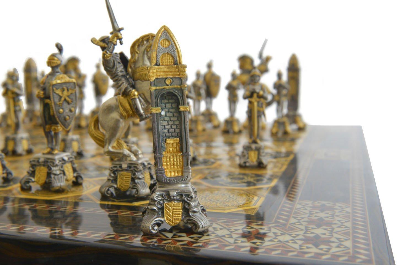 Piero benzoni medieval chess set - The chessmen chess set ...