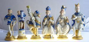 Cybis Porcelain Chess Set #5