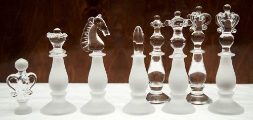 King Albert Edward Crystal Chess Set