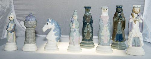 Lladro Porcelain Chessmen