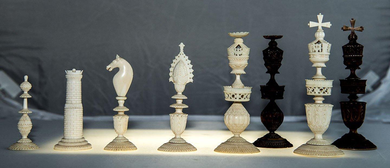 Antique ivory chess set best 2000 antique decor ideas - Collectible chess sets ...