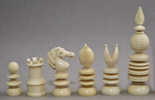 Jaques Lund Antique Chess Set with Draughts