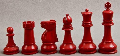 Baruch Harold Wood Antique Ivory Chess Set