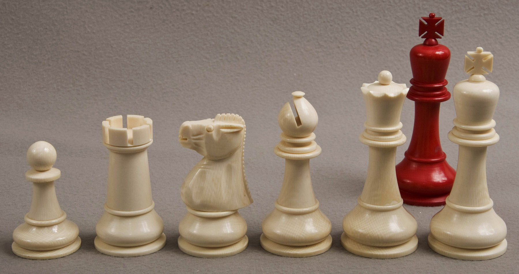 Antique baruch h wood staunton chess set - Collectible chess sets ...
