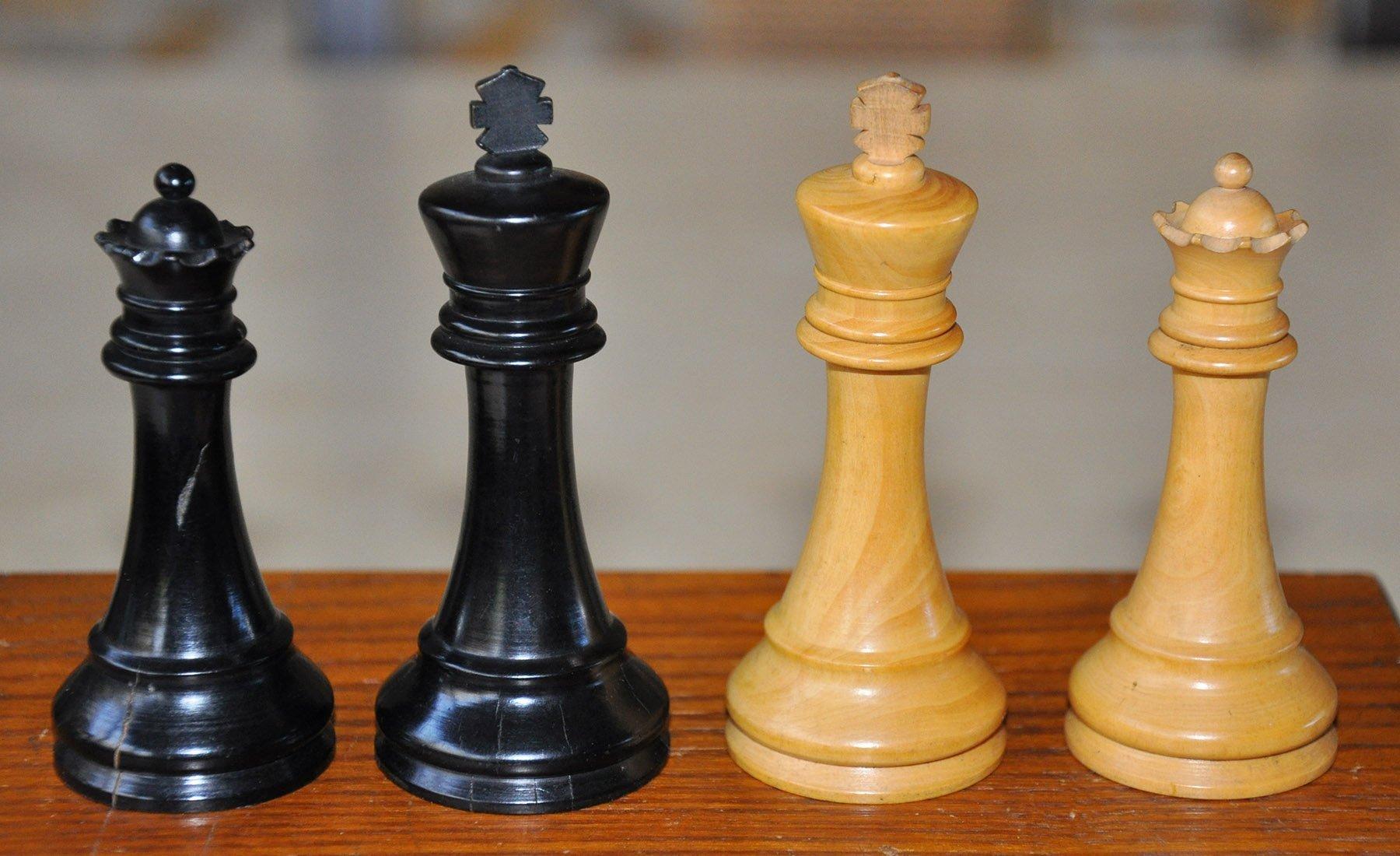Popular staunton antique chess set 3 1 2 king - Collectible chess sets ...