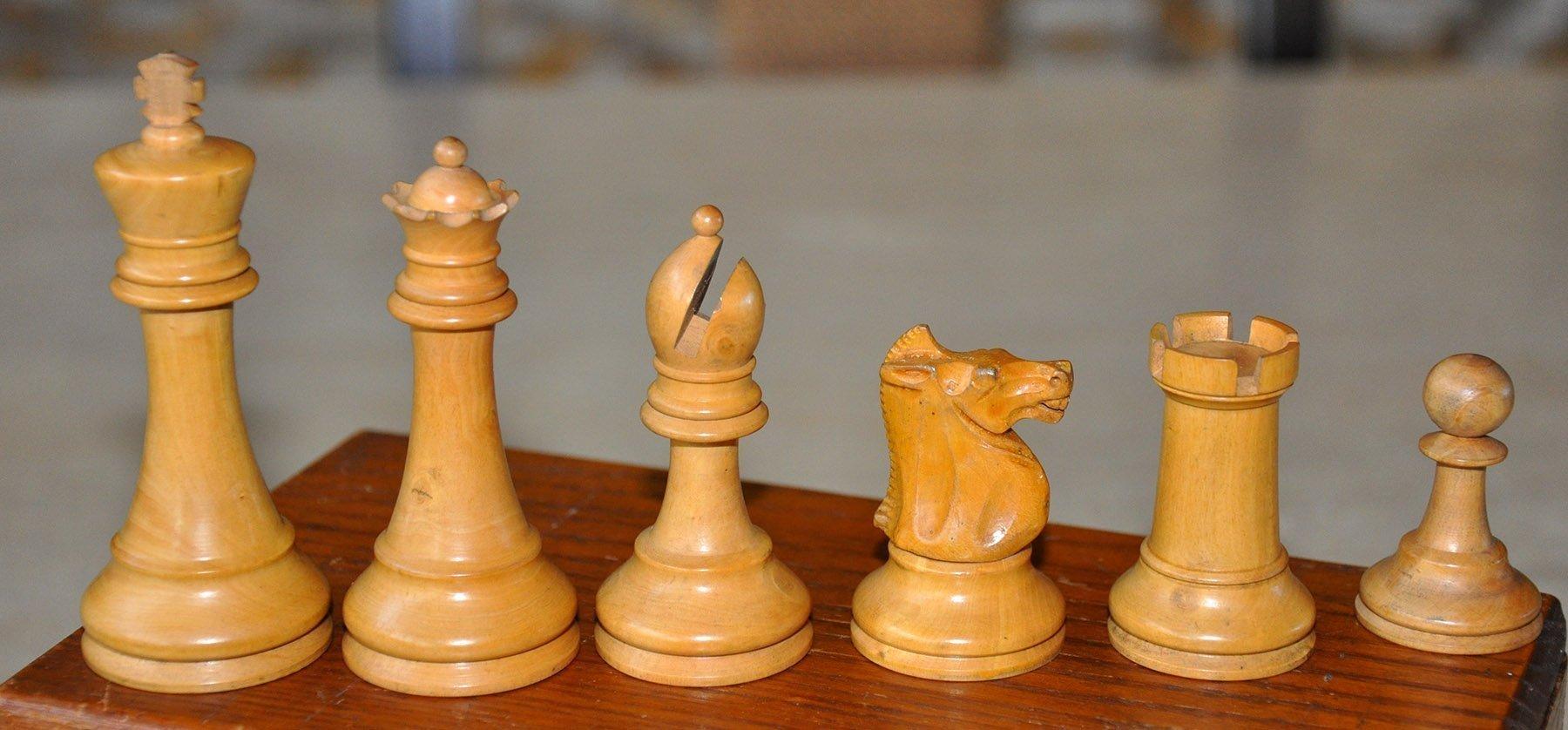 Popular Staunton Antique Chess Set 3 1 2 Quot King Www