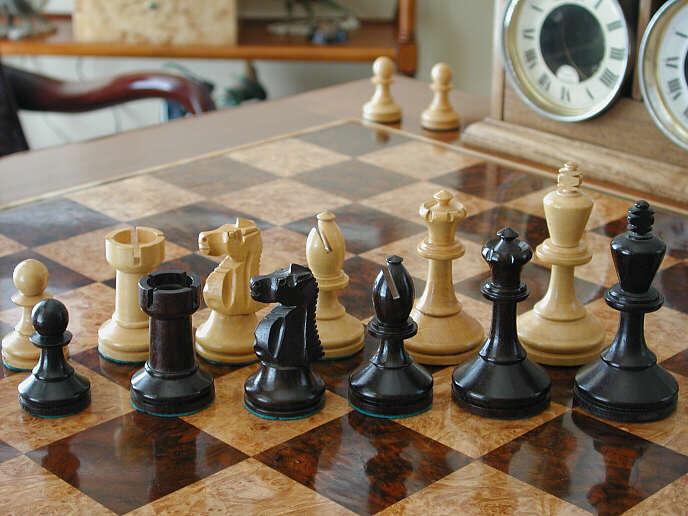 Baruch harold wood antique chess set ebony antique chess sets - Collectible chess sets ...