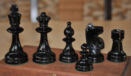 William T Pinney Antique Chess Set