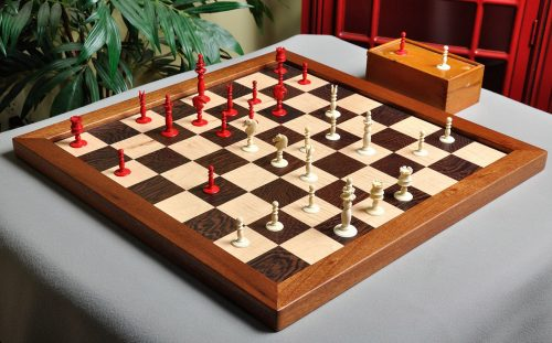 Antique Ivory Floral Top Calvert Chessmen