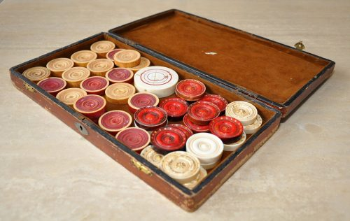 Antique Ivory Carrom Board Game