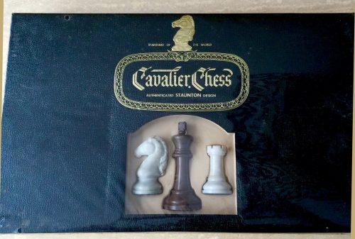 Vintage Cavalier Tournament Edition Alabaster Chessmen, Sealed