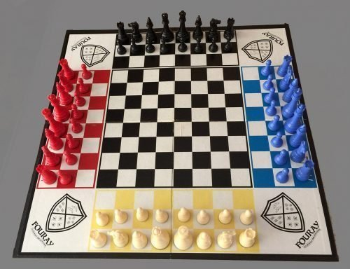 Fouray Four-Handed Chess Set
