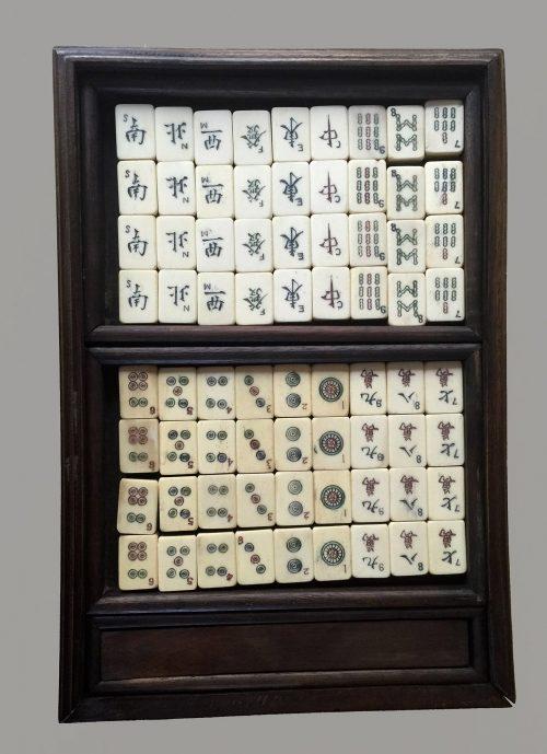 Vintage small Boxed Mahjong Set