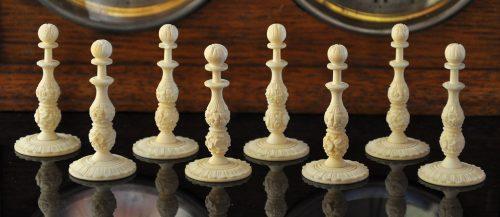 Ivory Burmese Antique Chess Set, Type II