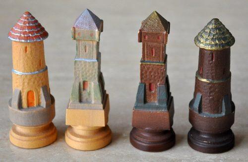 Colphi Figural Chessmen, Rooks