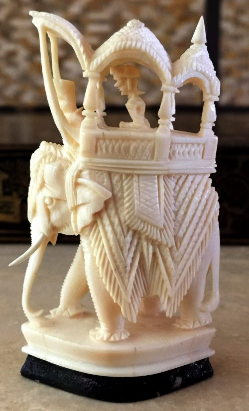 Rajasthan Monochrome Ivory Chess Set