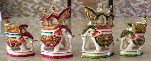 Rajasthan Polychrome Ivory Chess Set