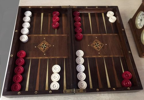Antique Ivory Backgammon Game Counters