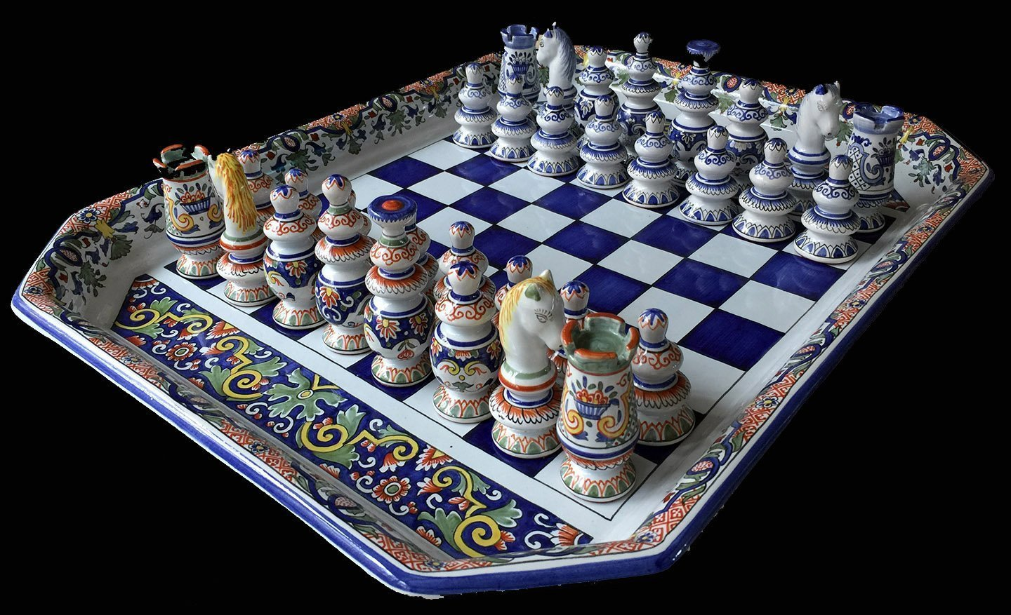 French faience antique chess set - Collectible chess sets ...