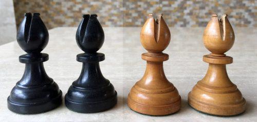 Antique Hallett of Holborne Chessmen