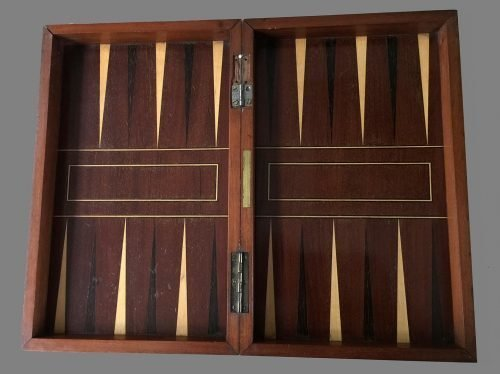 Antique Folding Chess Backgammon board