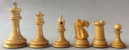 Antique Jaques Lasker Chessmen
