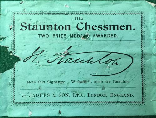 Jaques Tournament Marshall Chessmen