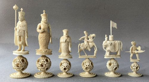 King George III Puzzleball Chess Set