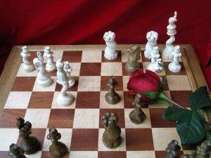 flowers chessmen