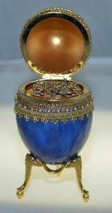 Faberge Egg Miniature Chess Set