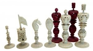 "Burmese Chess Set, 4-1/2"" King"