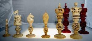 "Burmese Chess Set, 7-3/8"" King"