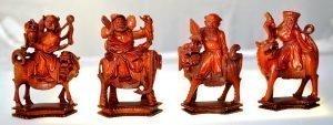 Chinese Deity Black Pawns