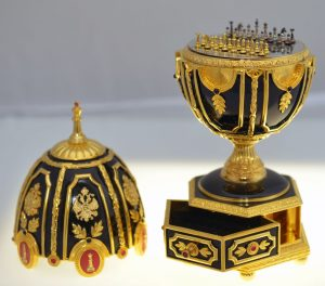 The Imperial Jeweled Egg Chess Set