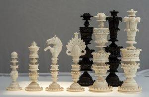 Mammoth Ivory Kashmir Chessmen