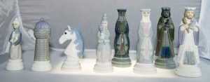 Lladro Porcelain Chessmen