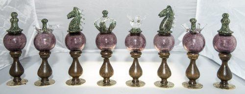 Murano Blown Glass Chessmen