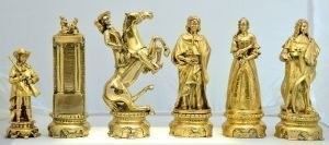 Nigri Gold Plated Chess Pieces