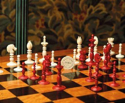 Antique Calvert Ivory Chessmen