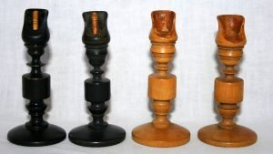 Biedermeier Antique Chess Set