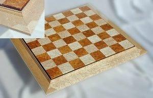 Amboyna Bird's-Eye Maple Chessboard