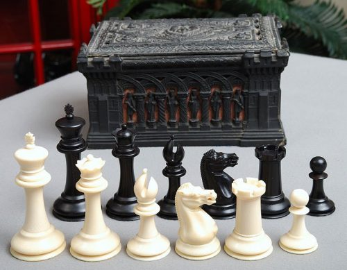 Jaques Library Ivory Anderssen Chessmen
