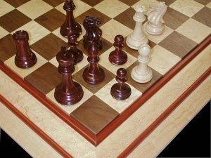 Bird's-Eye Maple, Walnut Chessboard