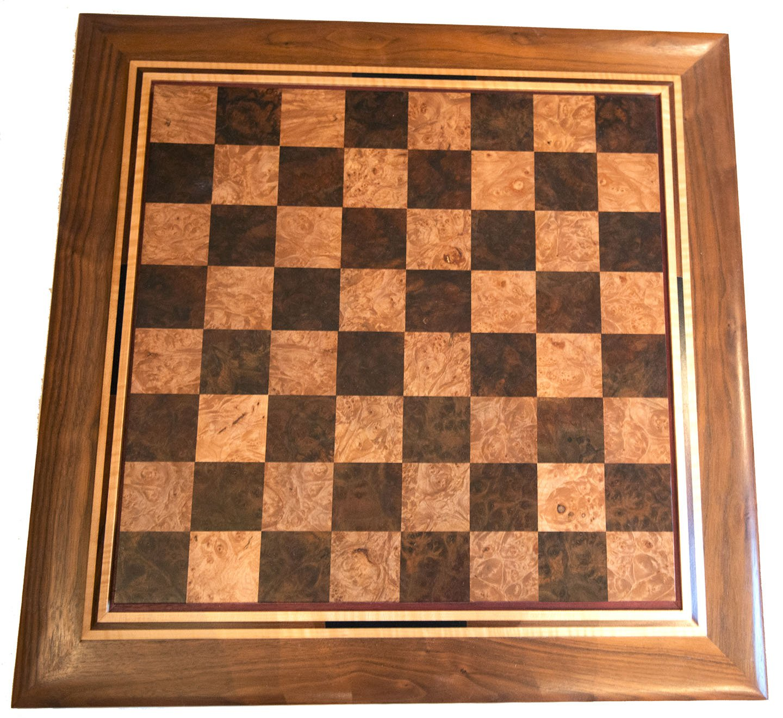 Maple Burl Chess Board