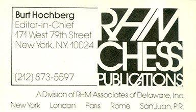 Hochberg Business Card