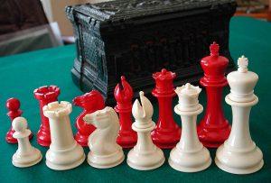 Antique Jaqaues Staunton Chess Set