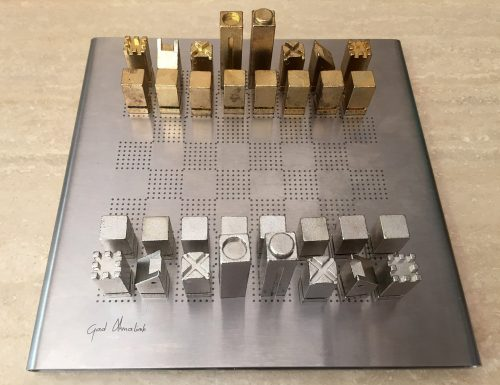 Metal Puzzle Chess Set
