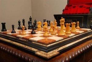 Amboyna Burl, Ebony Chessboard