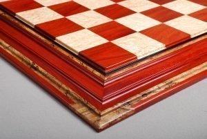 Bloodwood, Bird's-Eye Maple Chessboard